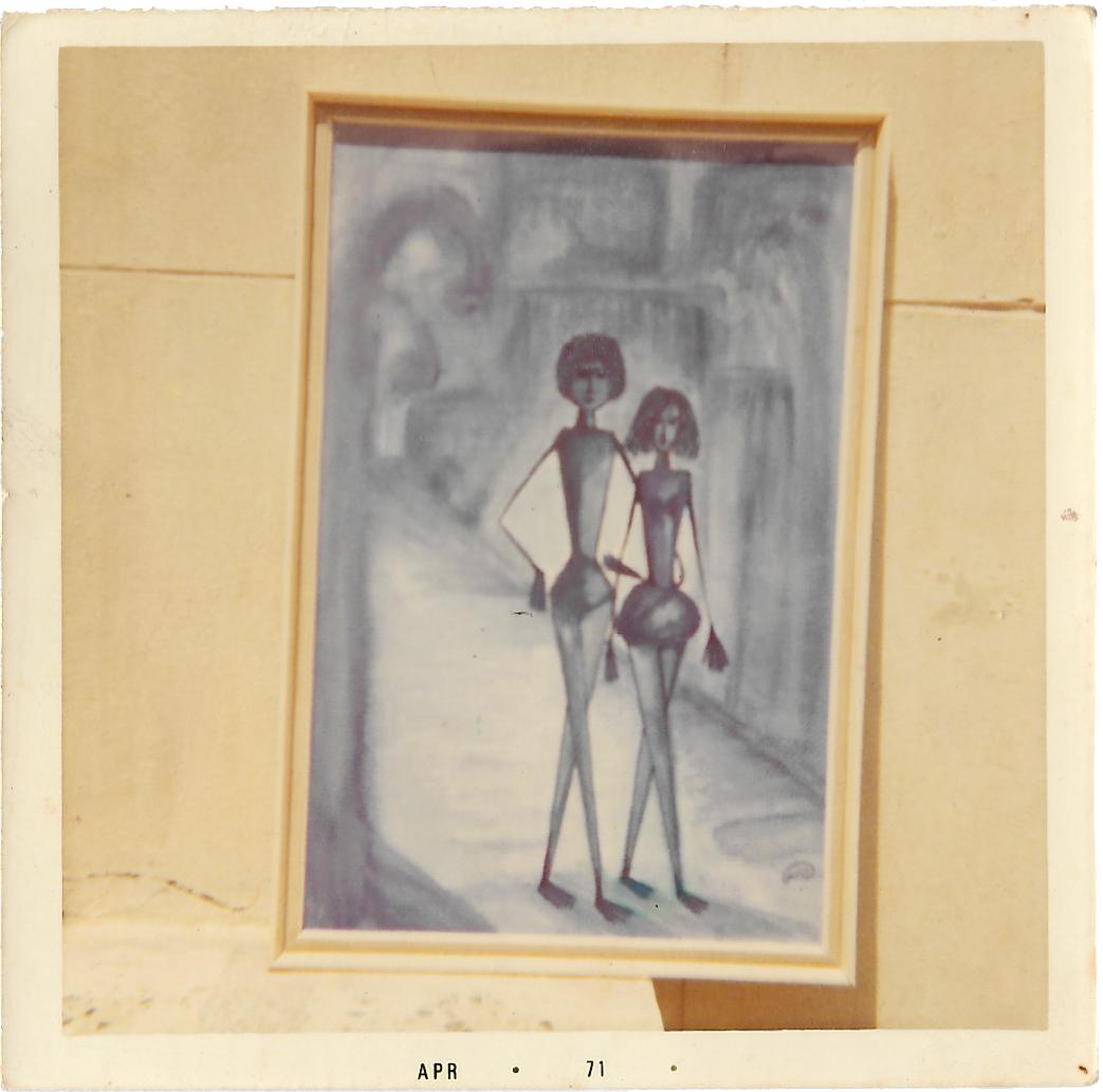 32ad3e12df Thuraya Al-Baqsami, Polaroid photo of The Bride of Mars, 1971. Acrylic on  canvas. Courtesy the artist